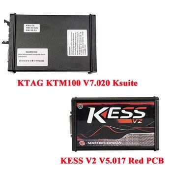 KESS V2 K-Paketi Firmware V5.017 Artı KTAG V7.020 Usta Sürüm EEPROM Chiptunning Aracı