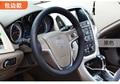 38 cm de Couro Genuíno Auto Cobertura de Volante de Carro Universal Macio Microfibra Anti-slip car cobertura de volante Sew Trança