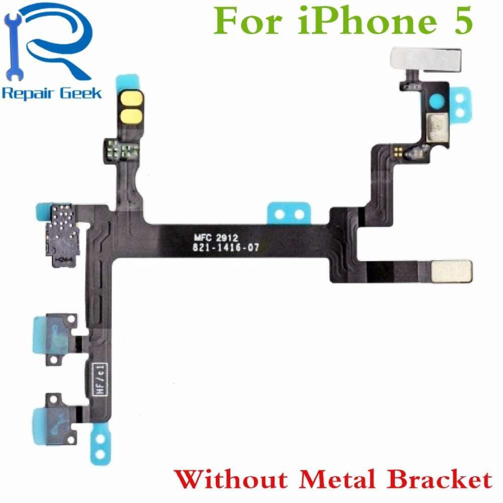 1 шт. Новый высокое качество включения/выключения блокировки Мощность Объем Кнопка отключения звука Flex кабель для iPhone 5 5 г flex ленты Запчасти для авто
