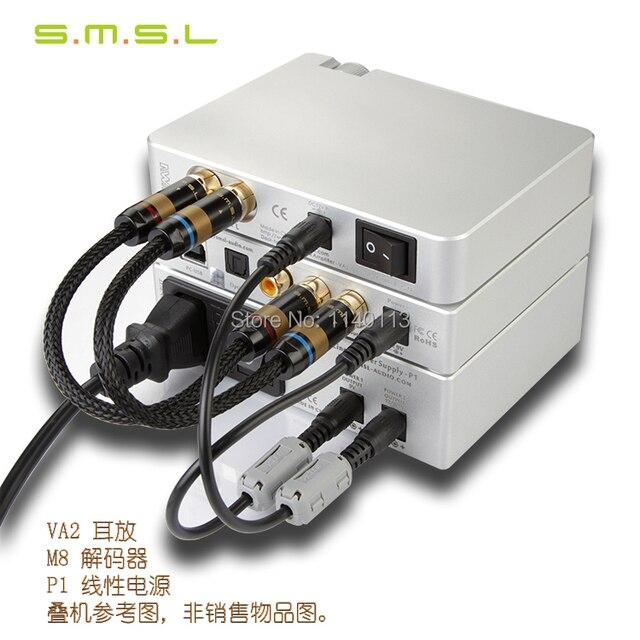 SMSL M8 USB DAC + ВМВ VA2 усилитель для наушников + линейный мощность P1 HIFI EXQUIS Рабочего Стола Высокого Класса Сочетание комплект