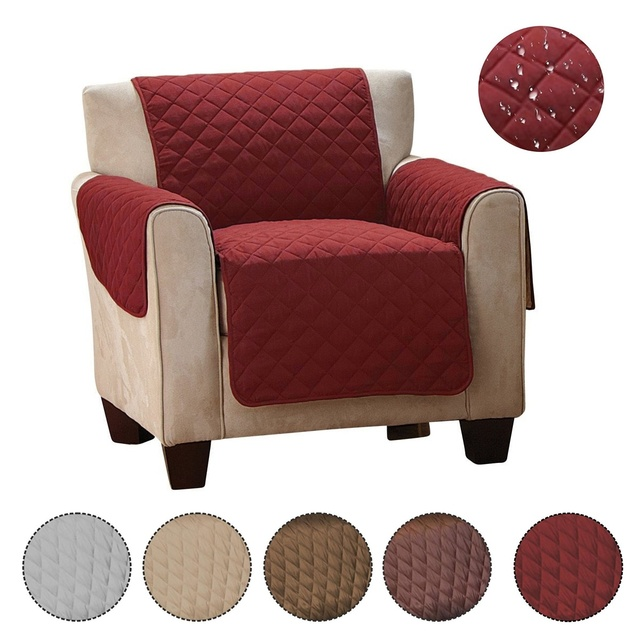 Etonnant Waterproof Microfiber Sofa Chair Covers Slipcovers Furniture Protector Cover  With Hold Down Elastic Straps For Pets Kids