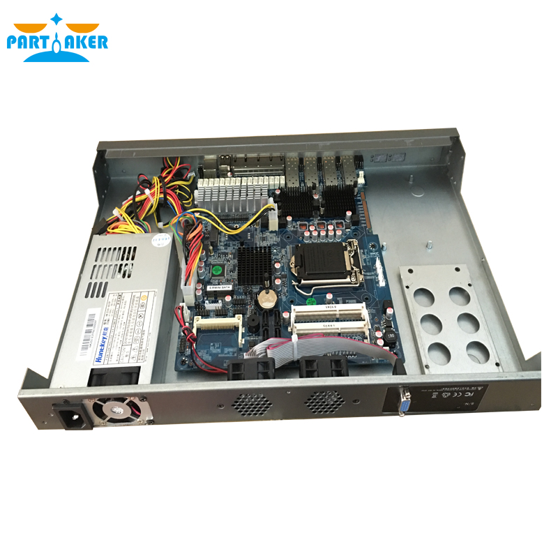 Mikrotik Server with Intel I3 4130 2G RAM 8G SSD 4 Gigabit Ethernet 4 Optical Router PARTAKER R20