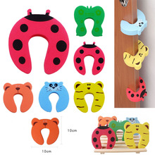 5pcs Kids Baby Cartoon Animal Jammers Stop Edge & Corner Guards Door Stopper Holder lock Safety Finger Protector 2017 special offer baby gate 6pcs child kids lovely door stopper doorway jammers guard finger protect baby safety protector