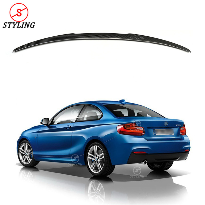 For BMW F22 Spoiler M4 Style 2 series F22 Coupe F23 Convertible M series F87 M2 Carbon Fiber rear spoiler rear trunk wing 2014 + аксессуар frap f22