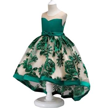 4230b771bd10a38 Детская одежда, платье с цветочным узором для девочек 2-10 лет ...