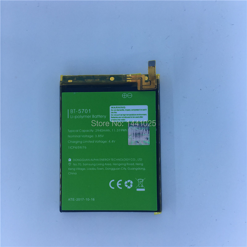 For LEAGOO S8 BT-5701 Battery 2940mAh Long Standby Time LEAGOO Mobile Accessories High Quality Mobile Phone Battery