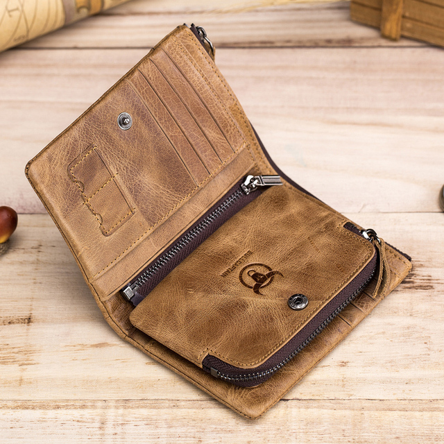 New Genuine Cowhide Leather Men Wallet