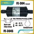 FE-304 осушитель фильтра позволяет устанавливать с любой ориентацией при условии  что поток находится в направлении стрелки