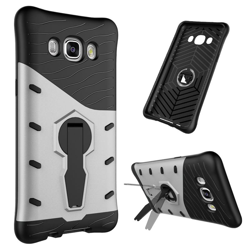 Hybrid Armor Case For Samaung Galaxy J5 J7 2016 Silicone Hard Rugged Rubber Stand Phone Shell Cover For Samsung J510 J510F/J710