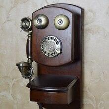 Placa giratoria de metal para teléfono colgante de teléfono montado en la pared vintage a la moda
