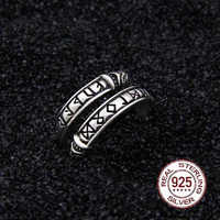 925 Sterling Silver Viking Dragon Rune Ouroboros Ring Adjustable with Viking wood box