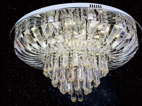 Plafoniere Cristallo E Acciaio : Nuovo e moderno lampade di cristallo rotondo ha condotto le luci