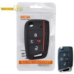 Télécommande en Silicone à 4 boutons, avec coque, pour voiture VW Polo, Golf 7 MK7, Atlas, etui clés-2016, sans clé, pour Skoda Octavia A7