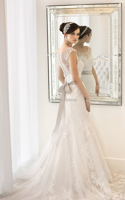 Bestselling romantic Organza designer wedding dresses 2014,lace ...