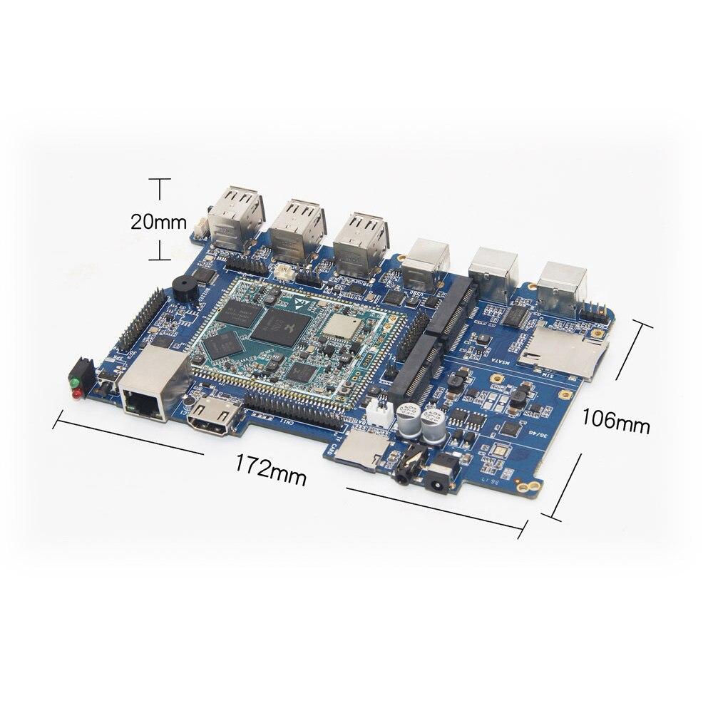 CubieAIO S700 carte open source tout en un Mini ordinateur intégré Android Linux UART x4 USB x6 64Bit CPU, bras carte de démonstration