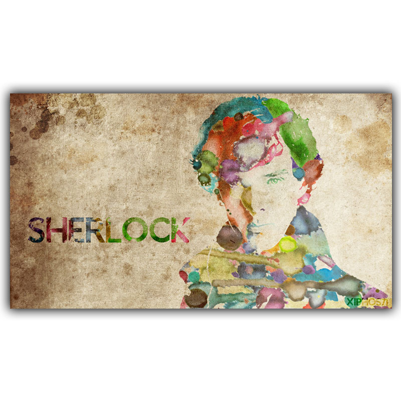 Custom Your Favourite Photos Posters Sherlock Holmes Benedict Cumberbatch Living Room Poster