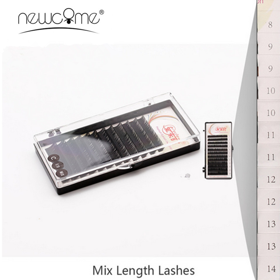 All Size Mix-Length Eyelash Extensions Korean Silk Mink Lahes B/C/D False Eye Lash Volume Eyelash Makeup Tools Cilios