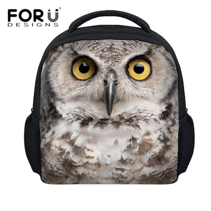d532233c773c0 Sowy FORUDESIGNS 3d plecak szkolny dla nastolatek chłopcy i dziewczyny  prezenty dzieci zwierząt druk plecaki plecaki szkolne