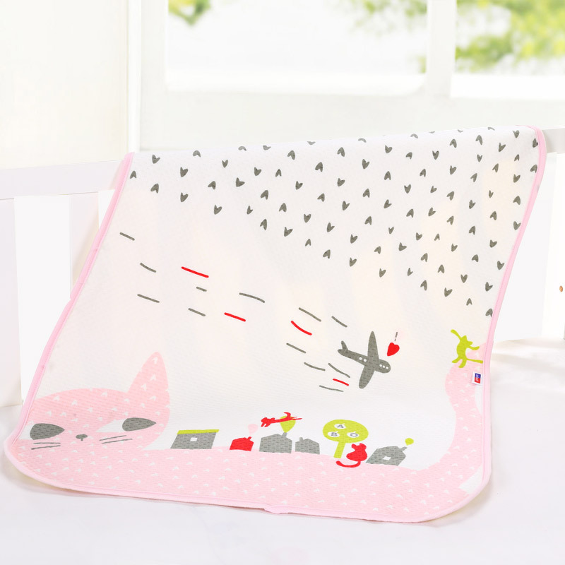 carton printing 60*80cm newborn baby mattress animals waterproof gauze pad toddler bed sheet