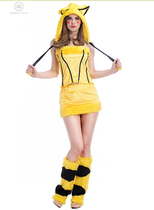 new sexy halloween cosplay pikachu costumes costume - Pikachu Halloween Costume Women
