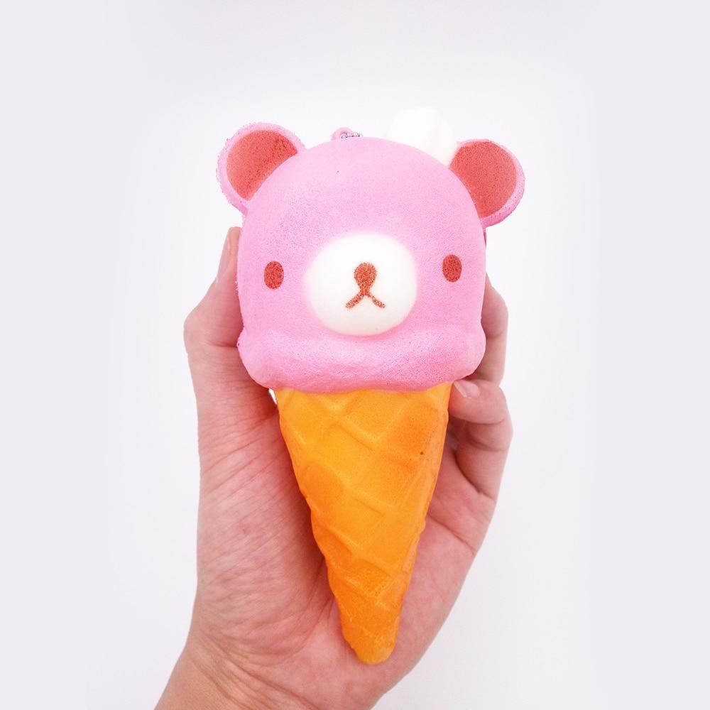 imágenes para 20 Unids/lote 14.5 cm Lindo Delicioso helado Blando Rilakkuma Niños Juguete Ballchain Suave Colección