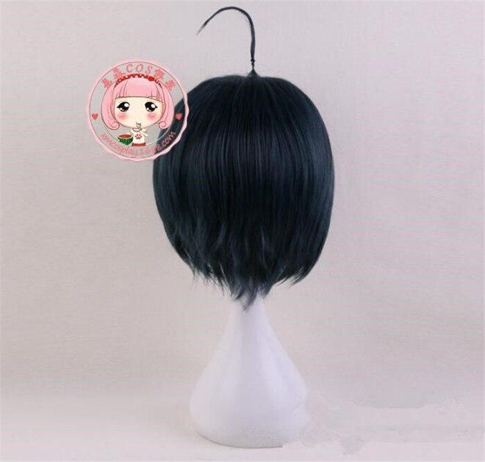 Danganronpa V3:Killing Harmony Shuichi Saihara Short Straight Green Cosplay Wig
