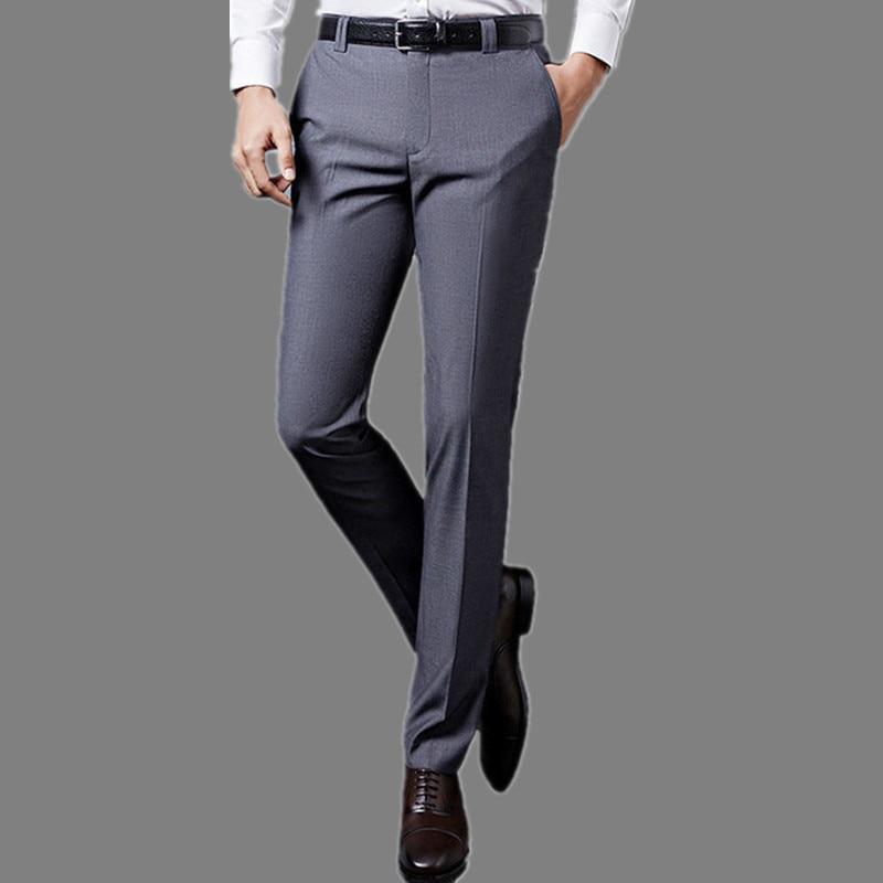 Розкішні чоловічі костюми брюки мода плаття брюки формальний бізнес чоловічий випадковий довгі брюки Slim Fit чоловіче весільну сукню чоловічий костюм  t