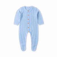 Newborn Infant Baby Girl Boys Rompers Spring Cable Knit Toddler One Piece Onesie Costumes Autumn Full