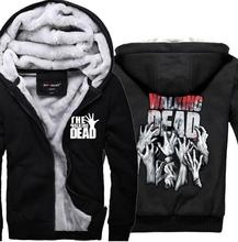 цена hip hop hoodies The Walking Dead sweatshirts men 2019 new winter thicken man hoodie men's sportswear casual Plus Size M-4XL