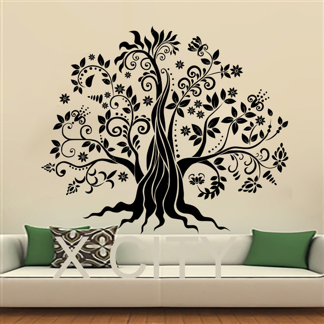 Wall Decals Fairy Tree Cartoon Art Vinyl Stickers Nursery Bedroom Window Door Room Home Decor
