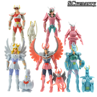 10pcs Set Saint Seiya Shiryu Shun Hyoga Seiya Ikki PVC Action Figure Baby Toy Doll