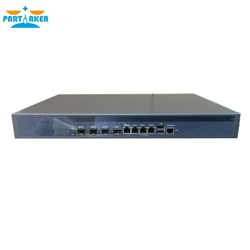Hardware Firewall with Intel Z87 I5 4430 4 LAN 4 SPF Ports Mikrotik ROS PARTAKER R20 8G RAM 128G SSD