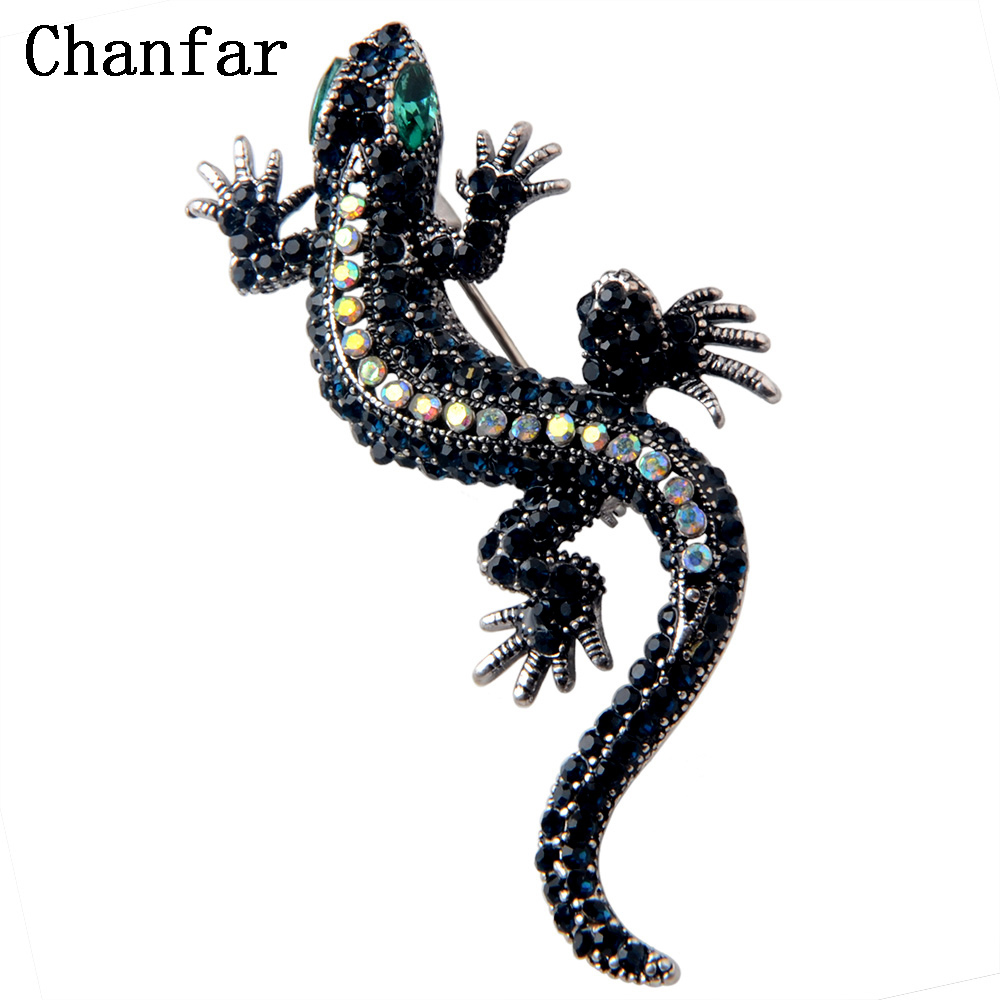 Jewelry Sets & More Fashion Style Rhao Vintage Blue Rhinestones Lizard Brooch Pins Green Eyes Gecko Animal Brooches Corsage For Women Men Kids Hats Collar Pins Jewelry & Accessories