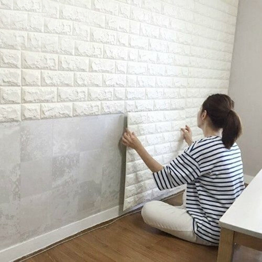 Waterproof PE Foam 3D Wall Stickers Safty Home Decor Wallpaper DIY Brick Living Room Kid Bedroom Decorative 6060 Cm In From