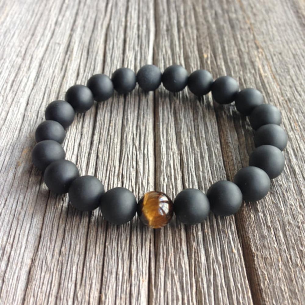 High Quality Jewelry Handmade Men's 10mm Beads Bracelets ...