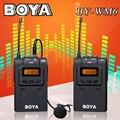 BOYA BY-WM6 Ультравысокой Частоты УВЧ Беспроводной Петличный Микрофон Система для Цифоровой Зеркальный Фотоаппарат Canon Nikon Sony Audio Recorder
