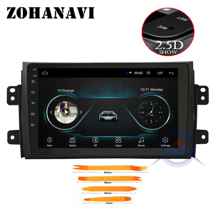 ZOHANAVI 2 5D IPS Screen For Suzuki SX4 2006 2013 9 Bluetooth Car DVD Radio Player