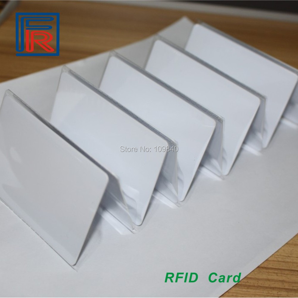 2019 NFC Blank White Card 13.56MHz ISO14443A Contactless MF1 Classic Fudan 1K S50 Rewritable RFID Card 1000pcs/lot