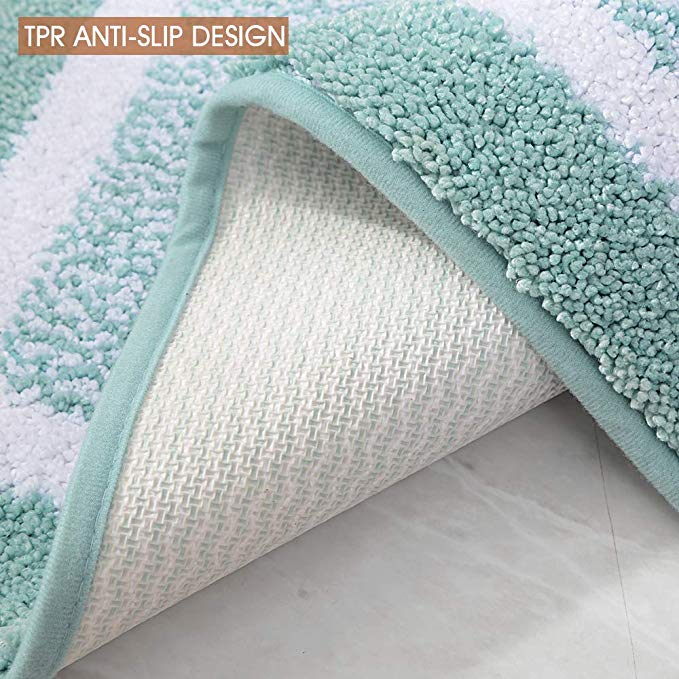 Bathroom Rug Mat Ultra Soft and Water Absorbent Bath Rug Shower Mats Machine Wash Dry for Tub Shower and Bath Room17 quot x24 quot in Bath Mats from Home amp Garden
