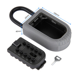 Image 5 - חדש שחור כבד החובה מפתח נסתרת אחסון כספת עם 4 דיגיטלי נעילת סיסמא עמיד בית Carvan משרד RV