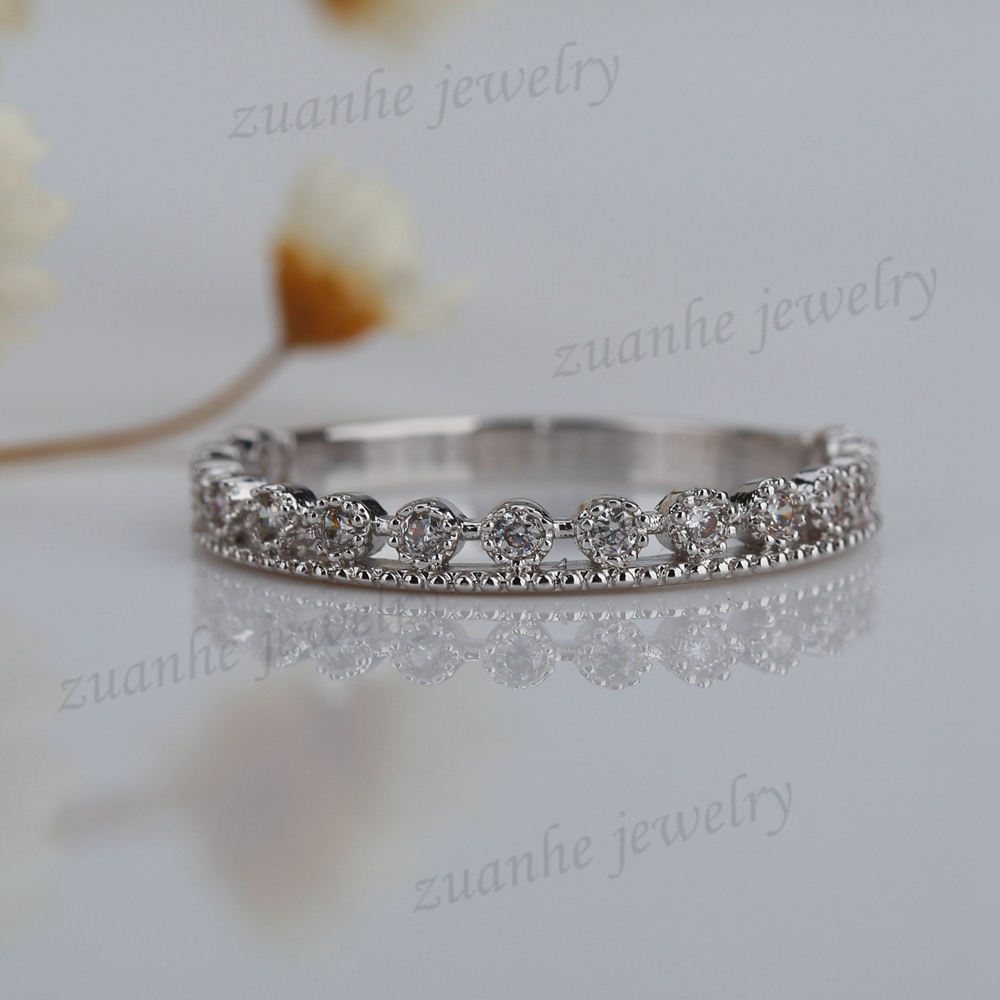 Real Solid 10k White Gold Engagement Wedding Elegant Ring ElegantEngagment Band Natural diamonds