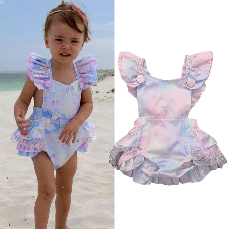 Newborn Baby Girl Cotton Ruffle Romper Girls Summer Style Clothing Baby Girl Clothes Super Sweet New Design On Sale Rompers