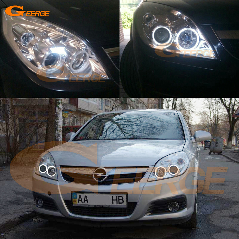 все цены на For Opel Vectra C 2005 2006 2007 2008 Excellent Angel Eyes Ultra bright illumination CCFL Angel Eyes kit halo rings онлайн