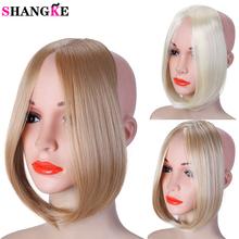 SHANGKE Long clip in na przedniej włosy Bang Side Fringe włosów Extension prawdziwe naturalne syntetyczne grzywka kawałek włosów tanie tanio Tylko 1 sztuka Clip-in Tępy grzywka Czysty kolor Włókno wysokotemperaturowe M923