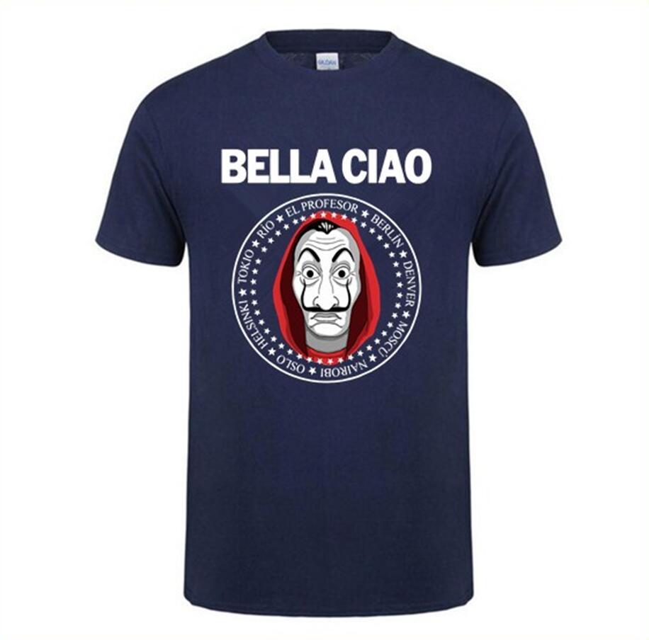 House of Paper Money Heist La Casa De Papel   T     Shirt   Short Sleeve   T  -  shirt   For Men Plus Size Cotton Team Tee TShirt camisetas