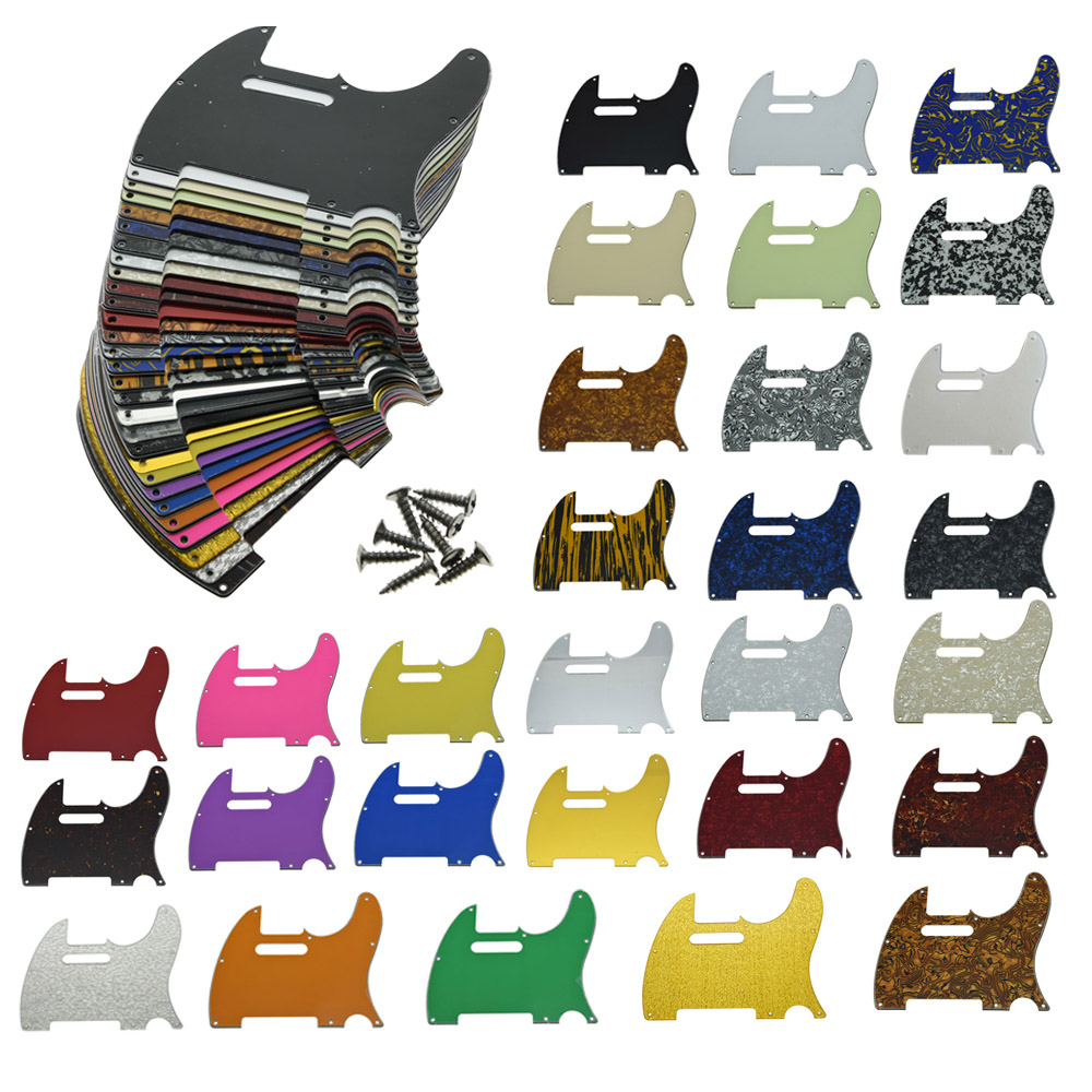 KAISH 8 Hole Tele Scratch Plate With Screws Guitar Pickguard Various Colors  For Fender Telecaster