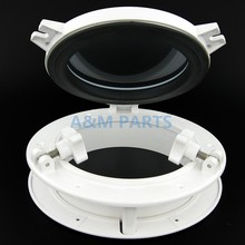 Marine Porthole Window Round Boats Window Portlights Yacht Hatch 8.5″ White