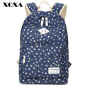 XQXA Fresh Women Backpack For Girls Backpacks Canvas Female School Bags Ladies Floral Printing Backpack Mochila Feminina Black