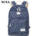 Xqxa fresco mulheres mochila para meninas mochilas de lona mochilas escolares do sexo feminino ladies floral impressão mochila feminina mochila preta