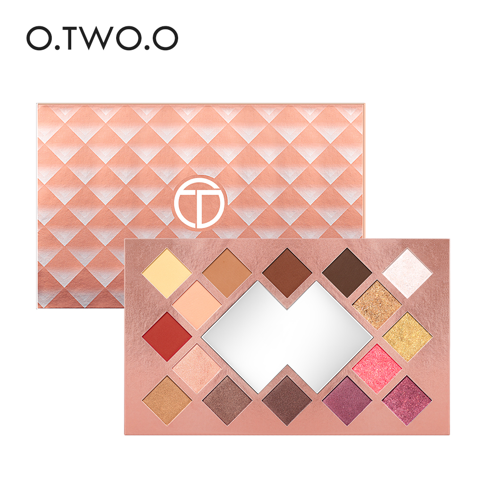 O.TWO.O 16 Colors Palette Eyeshadow Shimmer Eyeshadow Palette Matte Highlighter Eye Shadow Glitter Palette Make Up de lanci newest 35 colors shimmer matte eye shadow professional makeup eyeshadow palette beauty make up set
